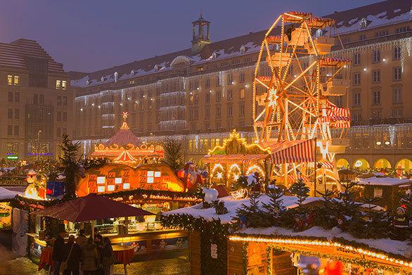 ドイツの美しい古都で開かれる 世界最古のクリスマスマーケット
