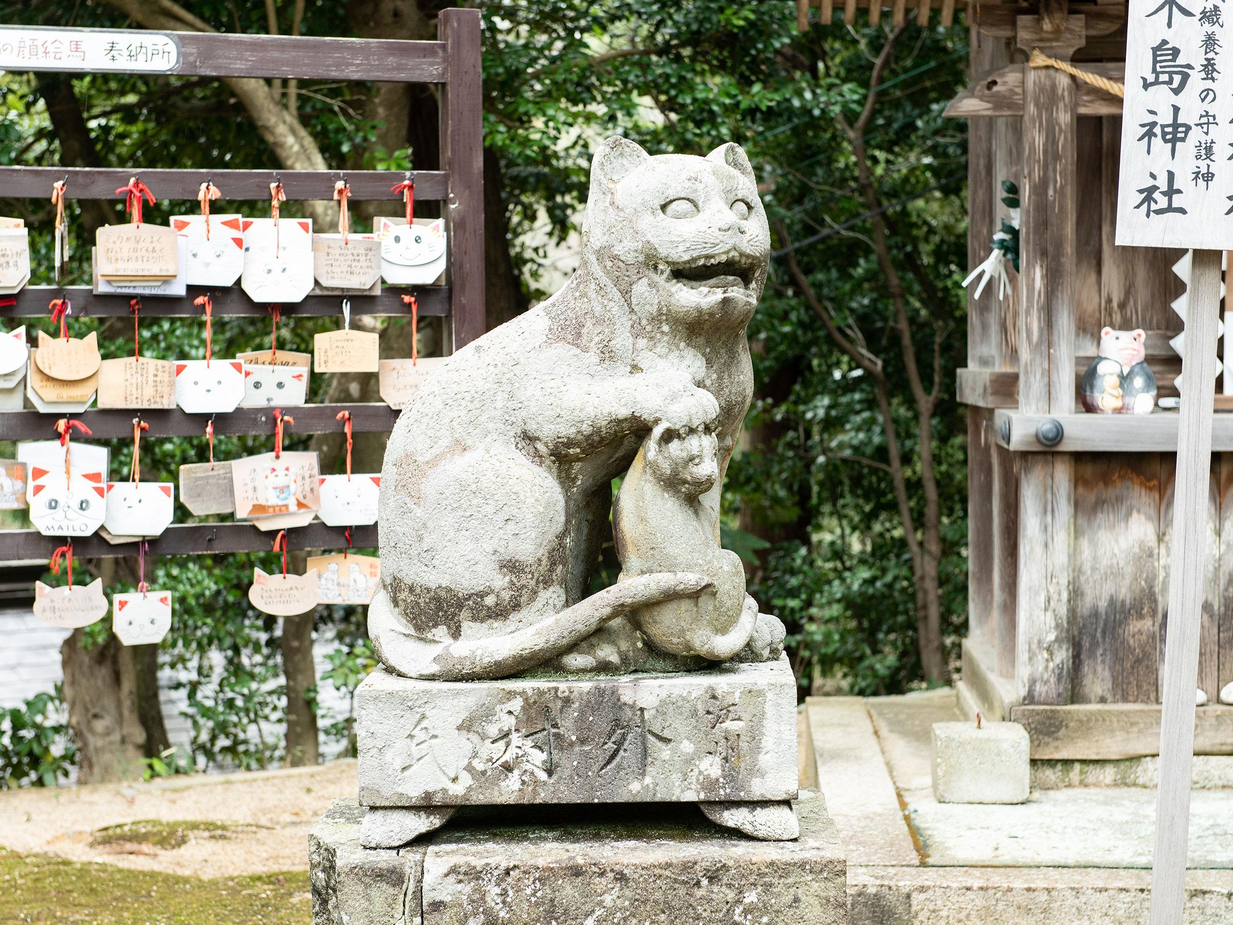 京都の魅力再発見! 金刀比羅篇 日本でもここだけの珍しい狛猫さん
