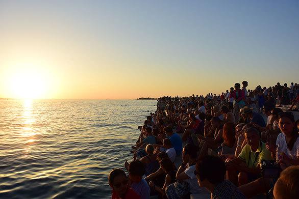 「クロアチア」港町は絶景の夕焼け!