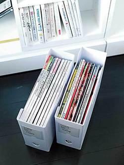 ストックしておきたい雑誌は、ファイリングすると逆に管理が面倒なので、雑誌ごとファイルBOXに